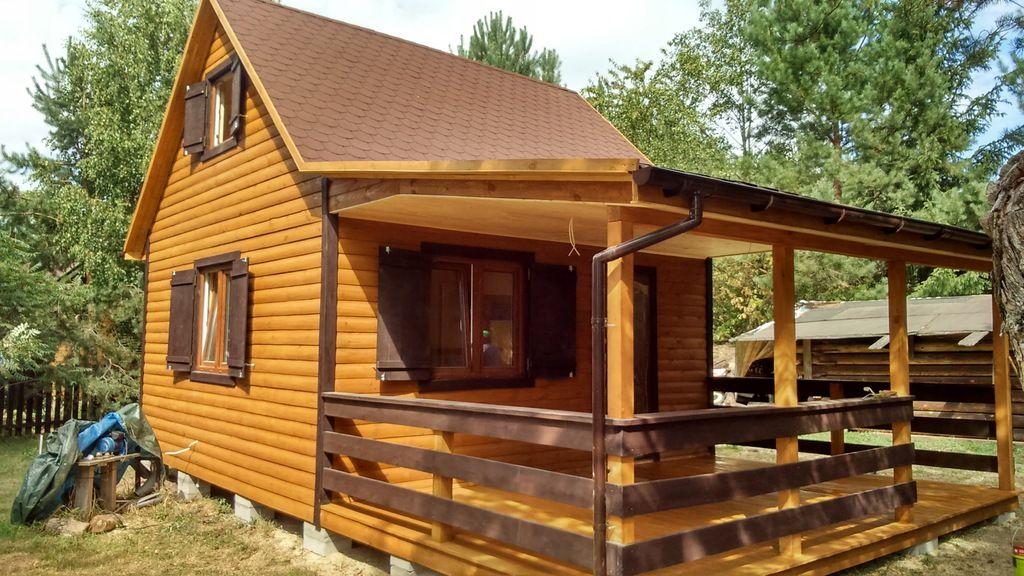 Domek Letniskowy Ocieplony Wykonczony Woda Prad 6675813416 Oficjalne Archiwum Allegro House Styles Outdoor Structures House