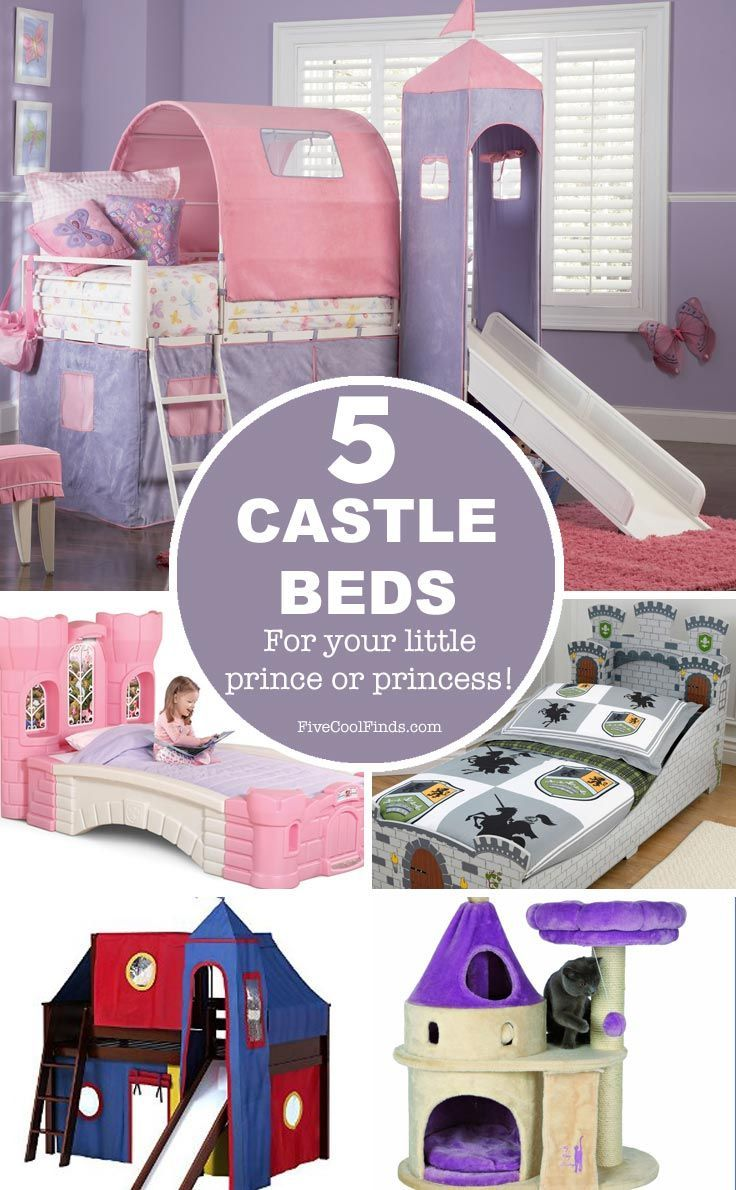 These castle beds are amazing - and I love that there is one for the cat too!