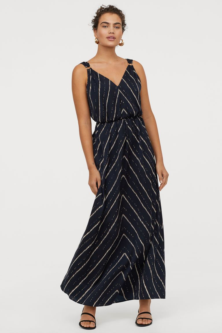 Maxi Jurk V Hals.Maxi Jurk Met V Hals H M Dresses V Neck Dress En Sun Dress Casual