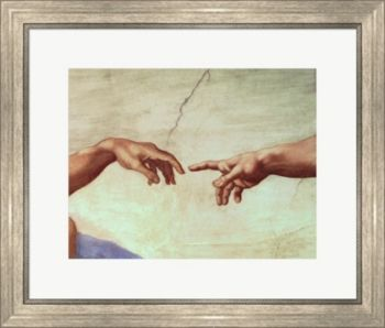 Michelangelo Hands Of God And Ada By Buonarroti Framed Art