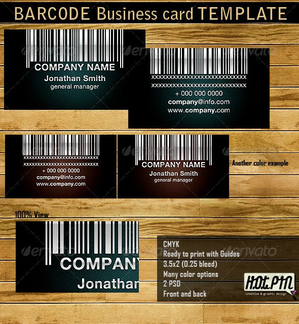 Barcode Business Card Template #GraphicRiver Barcode Business ...