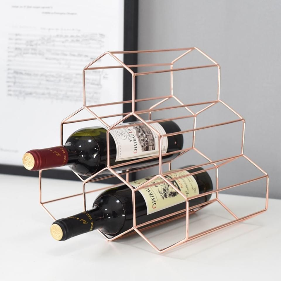 Table Or Counter Top Wine Rack With Wine By Otccustomwoodworks