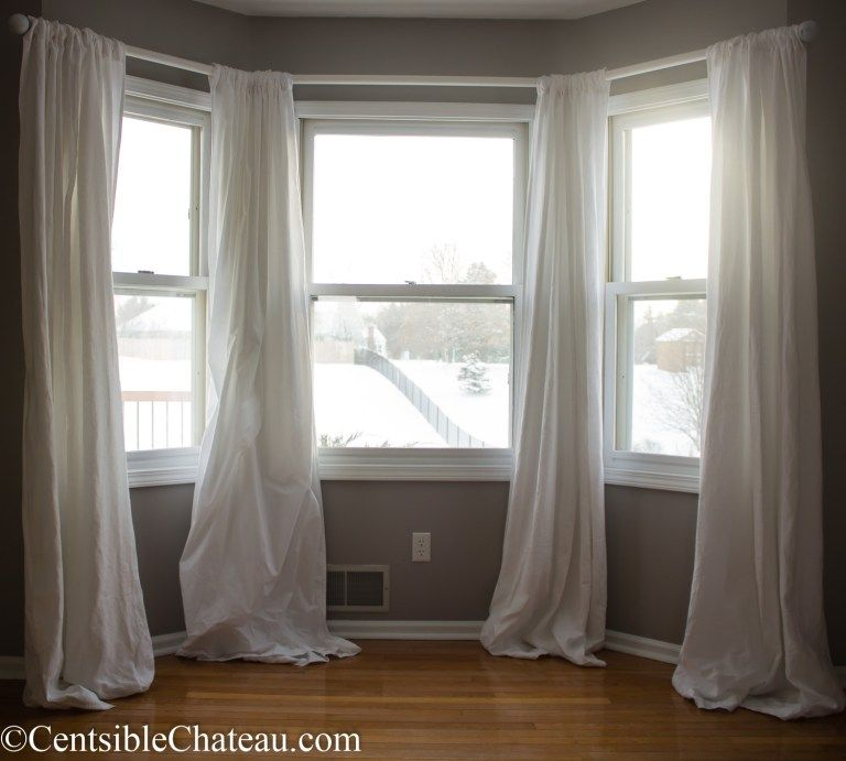 5 Curtain Ideas For Bay Windows Curtains Up Blog: How To Make A Simple, Gorgeous Bay Window Curtain Rod