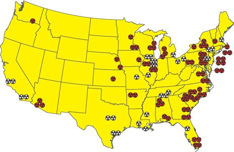 Maps Nuclear Power Plants In The United States Map Blog With - Nuclear power plants us map