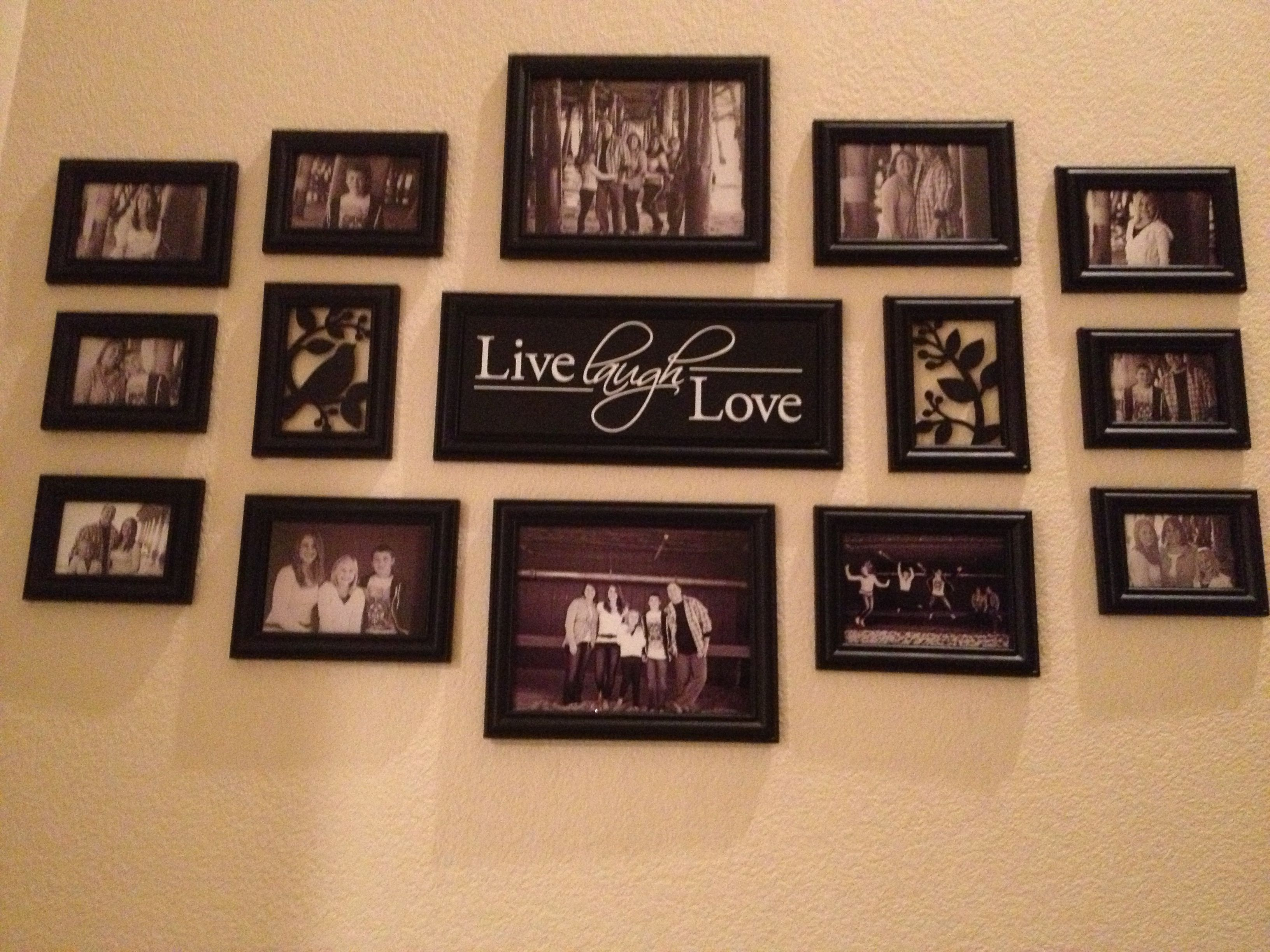 Picture Arrangement At Bottom Of Stairs Photography Pinterest Wall Ideas Decorating And Walls