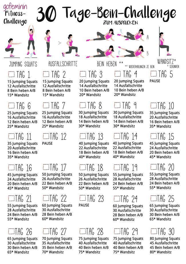 Für schöne straffe Beine: Die 30 Tage Bein-Challenge! #beautyproducts