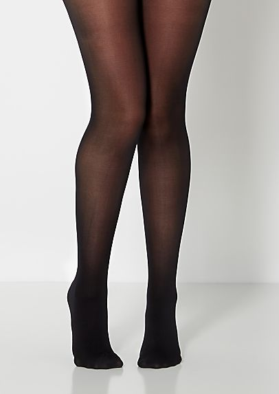 1b12eb309aba7 image of Black Opaque Microfiber Tights | Pantyhosr | Tights, Black ...