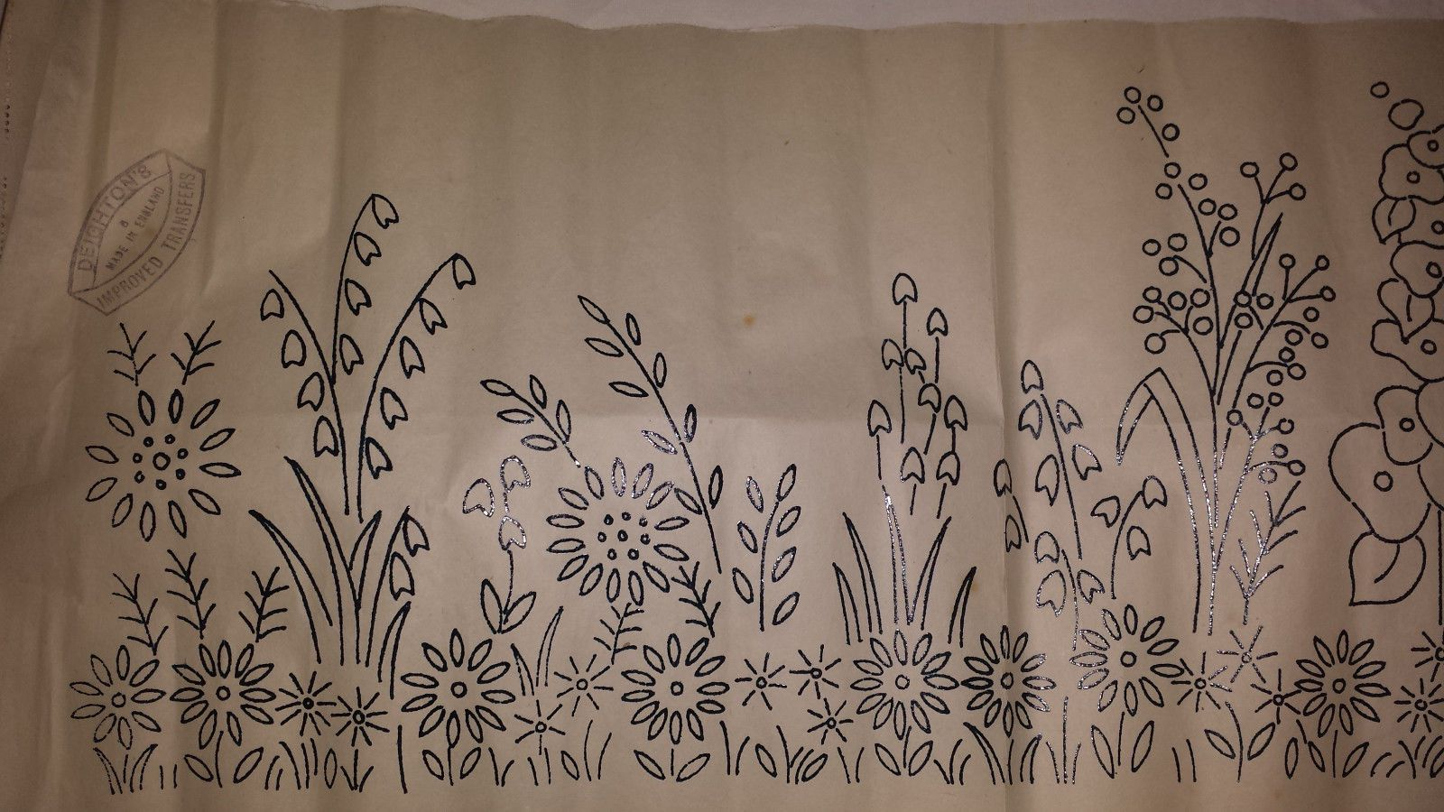 Vintage Embroidery Transfer Pattern