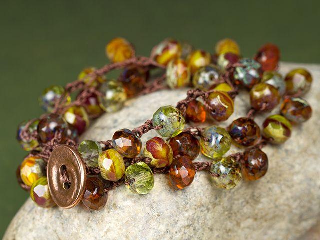 Forest Path Bracelet. Crochet beaded bracelet free pattern ...