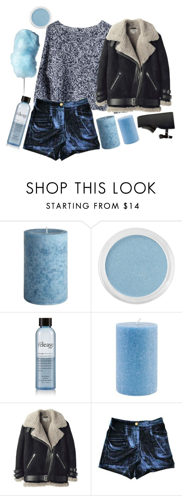 """Untitled #35"" by thearoseking ❤ liked on Polyvore featuring Pier 1 Imports, Bare Escentuals, philosophy, Root Candles, MTWTFSS Weekday, Acne Studios and Jeffrey Campbell"