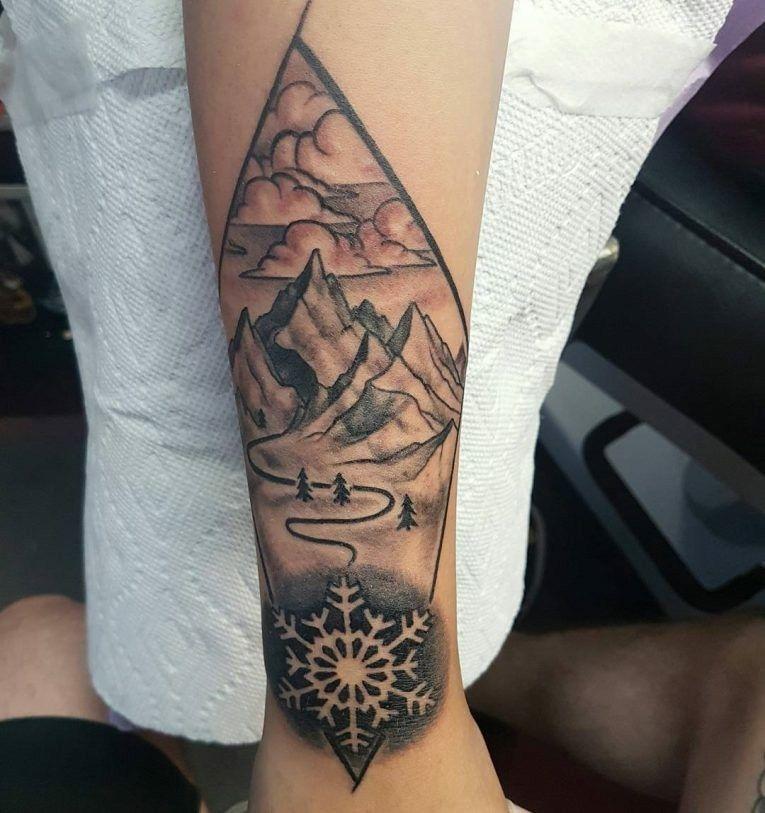 DIYTattoo Tattoo Mountain range tattoo, Mountain