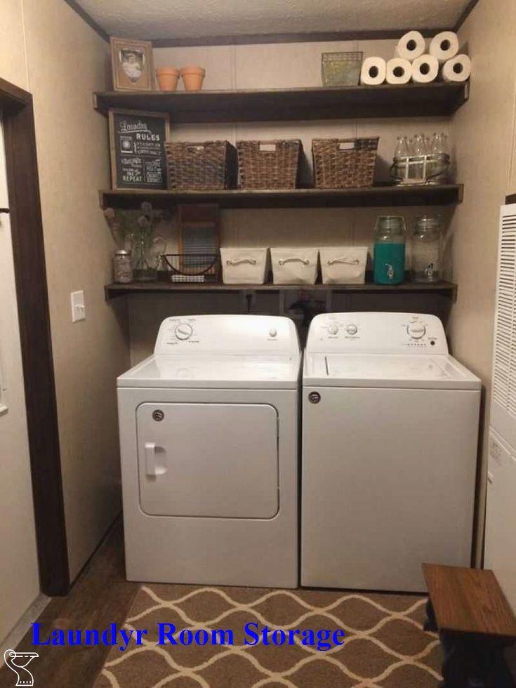 Functional Laundry Decor Meets Storage