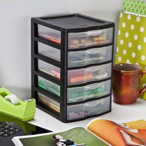 Sterilite 5-Drawer Mini Desktop Organizer, Set of 4 $35 | Dream ...