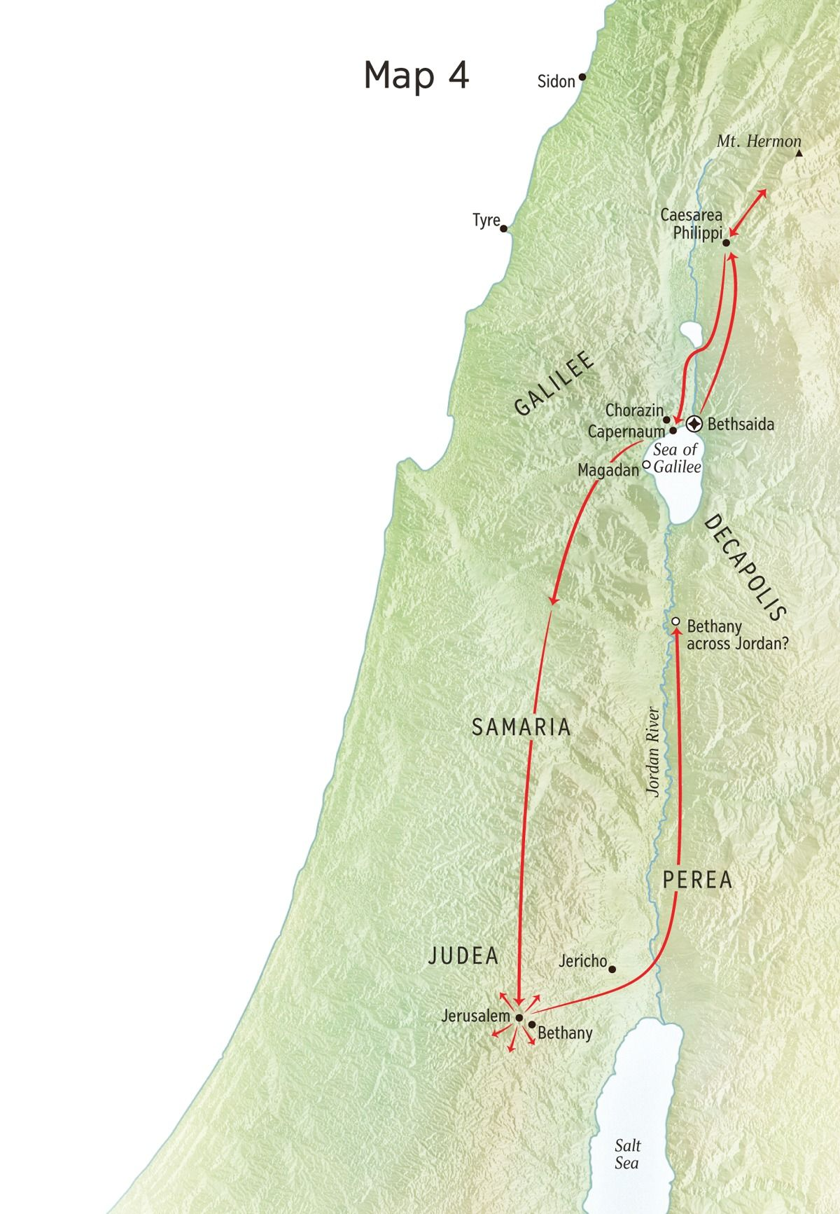 Jesus' Later Ministry in Judea (Chart and Map) | Bible Study ... on bible maps jerusalem, bible times map of scythia, bible road map, map of luke's ministry, map of john the baptist ministry, bible palestine map, jusus ministry,