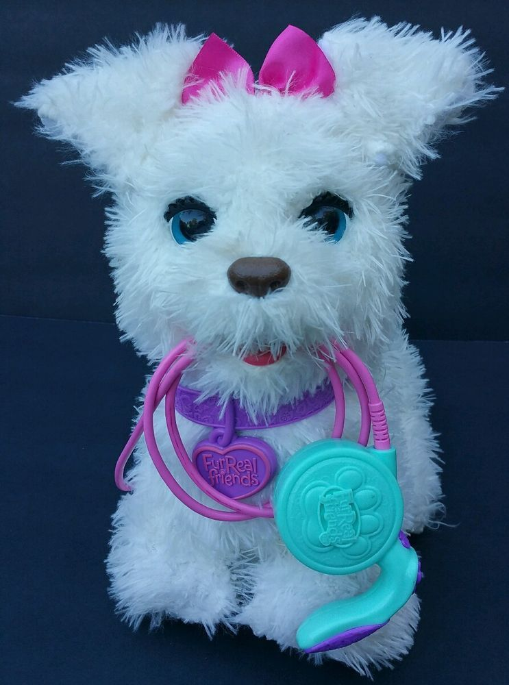 Furreal Friends Get Up Gogo My Walkin Pup Pet White Dog By Hasbro