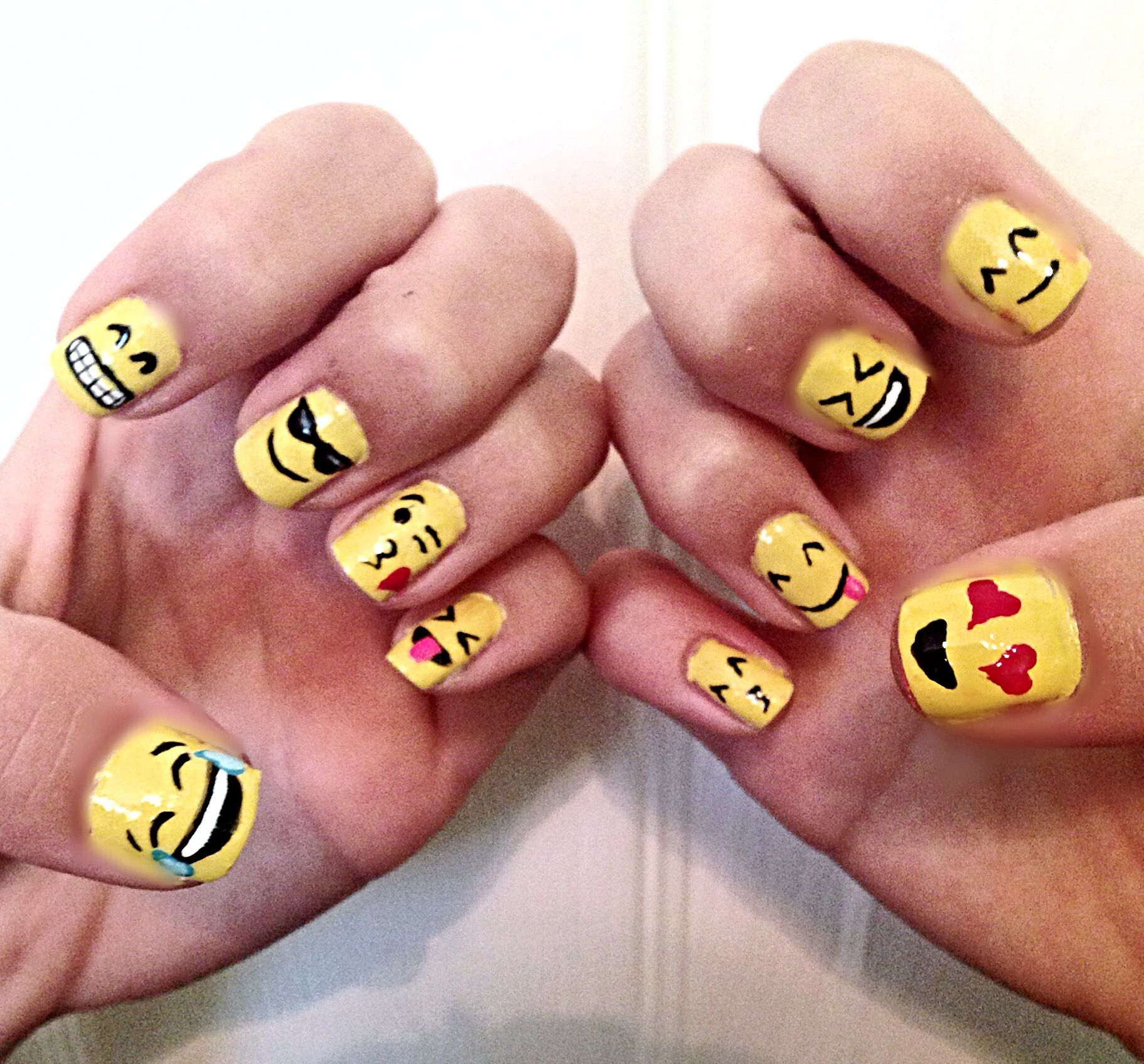 Emoji Nail Art Tutorial : Emoji nails my nail art