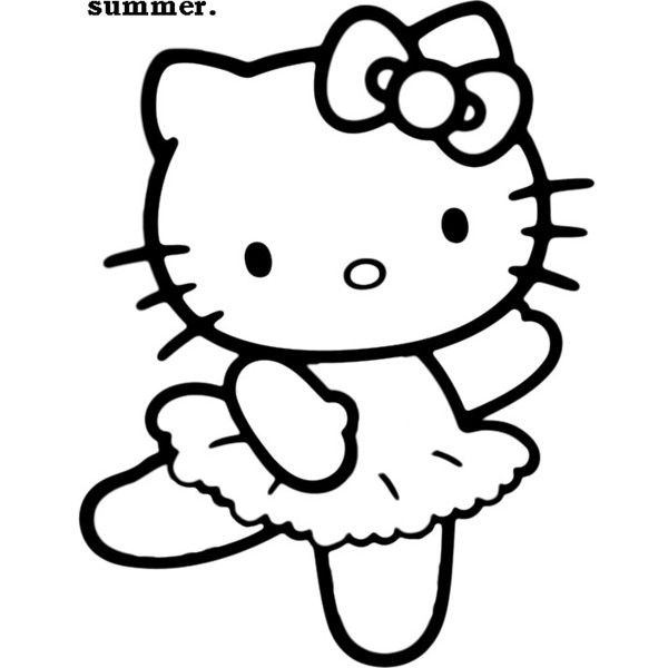 Hello Kitty Outline Tutu found on Polyvore | Star Wars | Pinterest ...