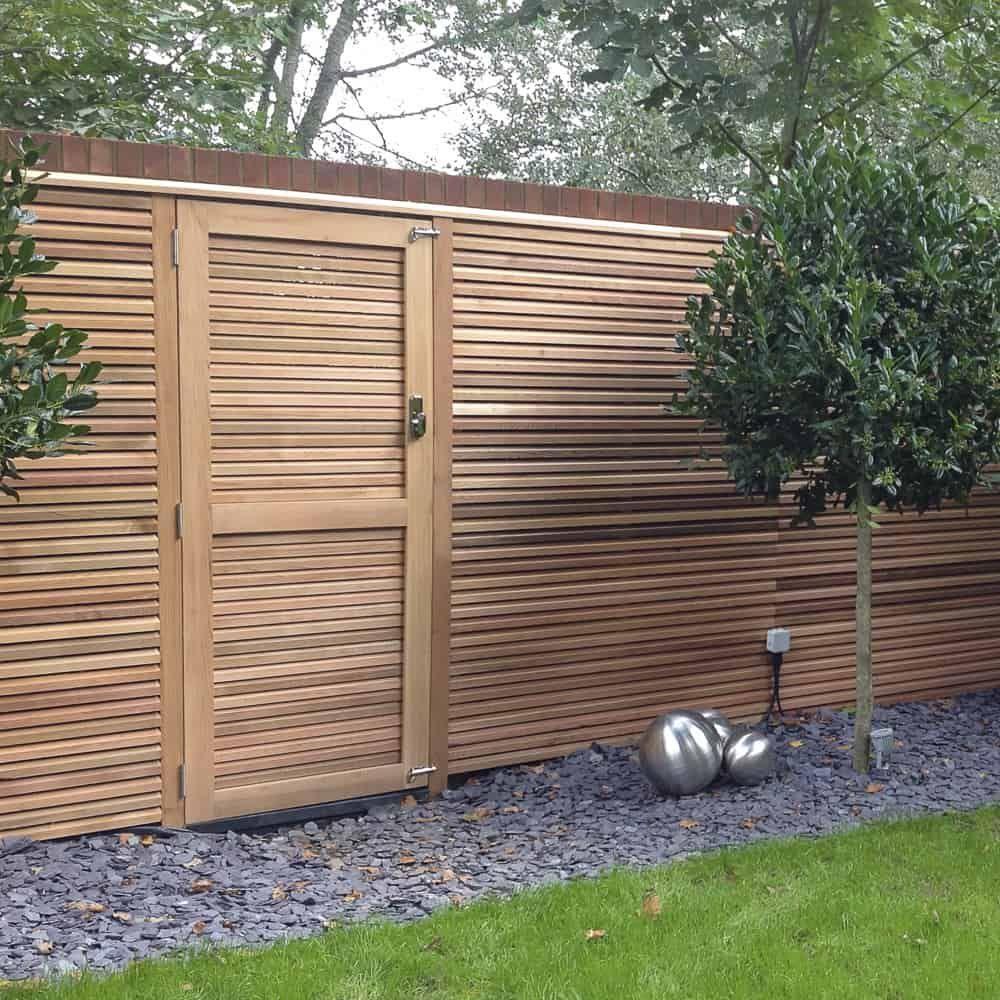 gate home Wood fence design, Fence design, Contemporary