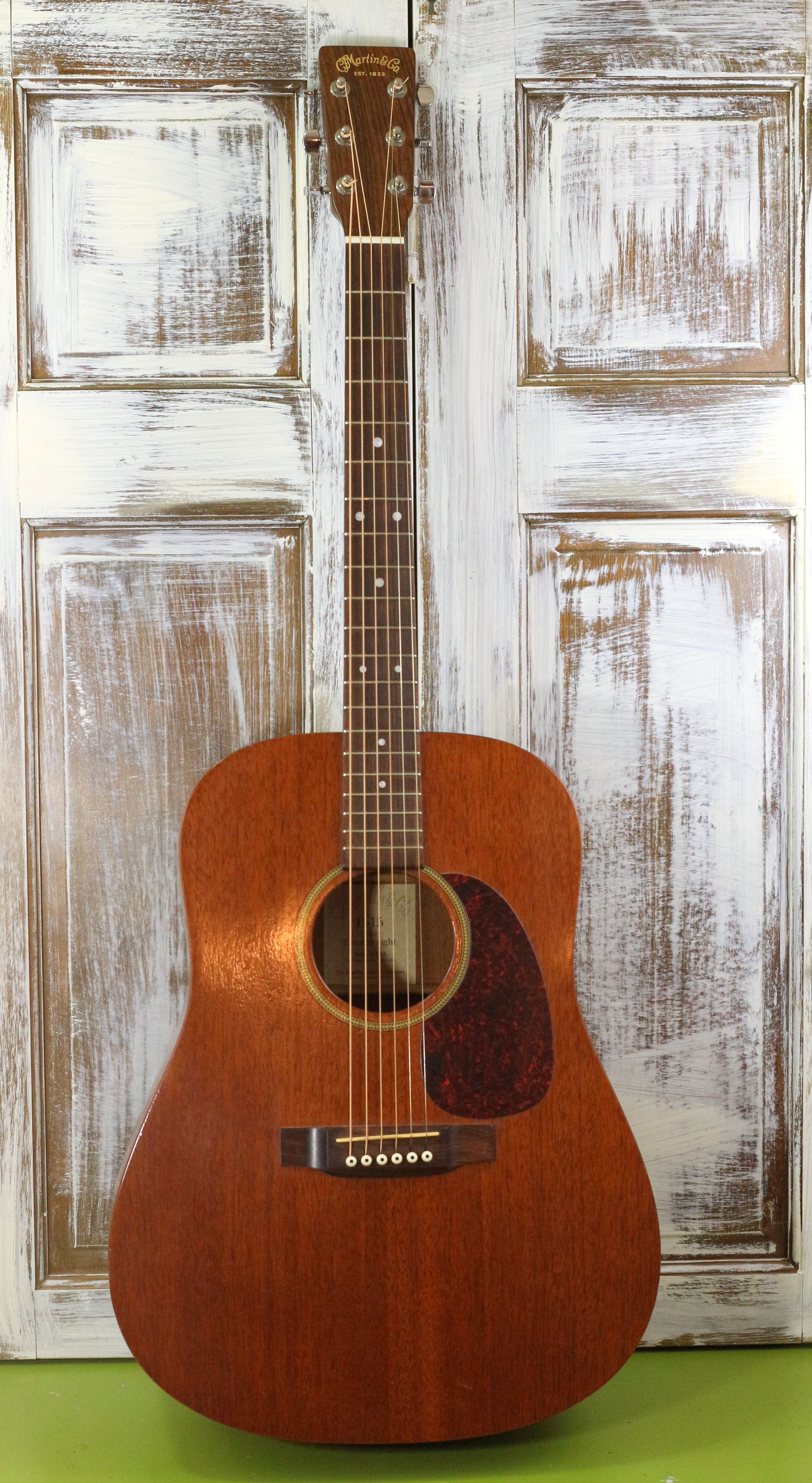 My Martin D15 After Compounding To Gloss Finish It Looks Great The Finish On This Guitar After 11 Years Of Heavy Use Was Noth Guitar Acoustic Guitar Vintage