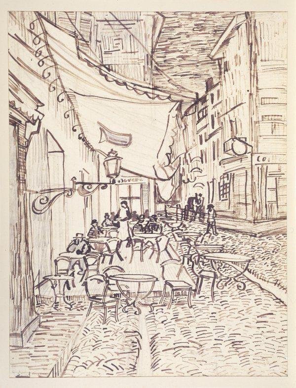 Vincent Van Gogh La Terrasse Du Cafe Place Du Forum A Arles La