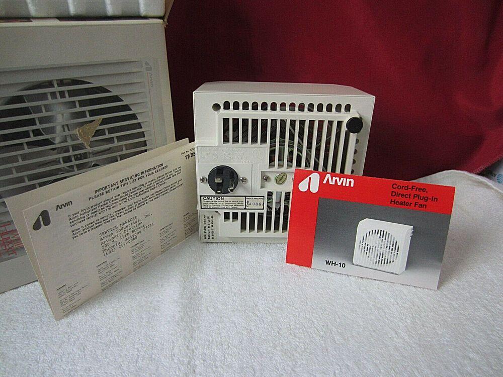 Arvin Wall Hugger Wh 10 Cord Free Heater Amp Fan 1000 Watts