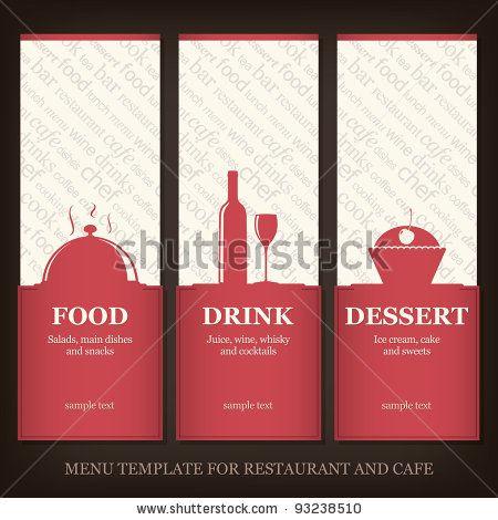 Menu template for restaurant and cafe by LMV, via Shutterstock - sample wine menu template