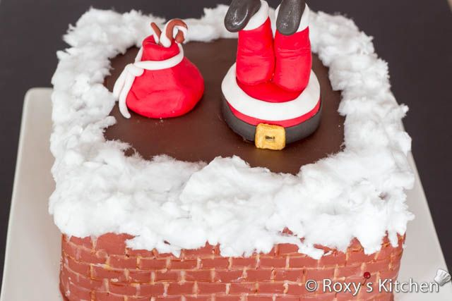 Christmas Cake Decorating Step By Step : How to Make a Santa Down the Chimney Cake - Tutorial with ...