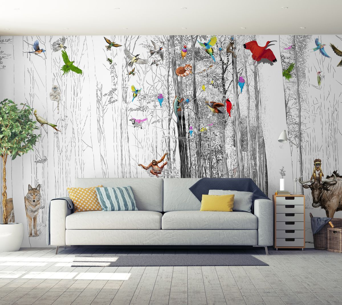 dessins incr ation rev tement mural et papier peint. Black Bedroom Furniture Sets. Home Design Ideas