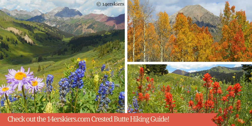 Welcome to the Crested Butte hiking guide- your most comprehensive guide to hiking in Crested Butte, Colorado, complete with descriptions, mileage, time-estimates & maps.