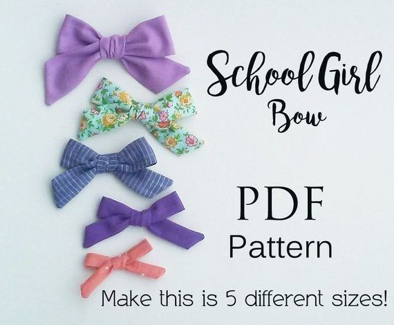 NEW! Bow PDF pattern bundle, school girl bow pattern, sailor bow pattern