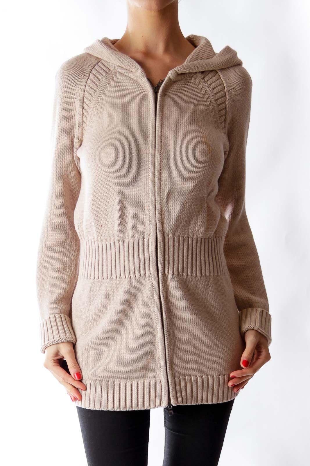 Like this Armani Exchange cardigan? Shop this without using money! Trade. Shop. Discover. #fashionexchange #prelovedfashion  Beige Hoodie Cardigan by Armani Exchange