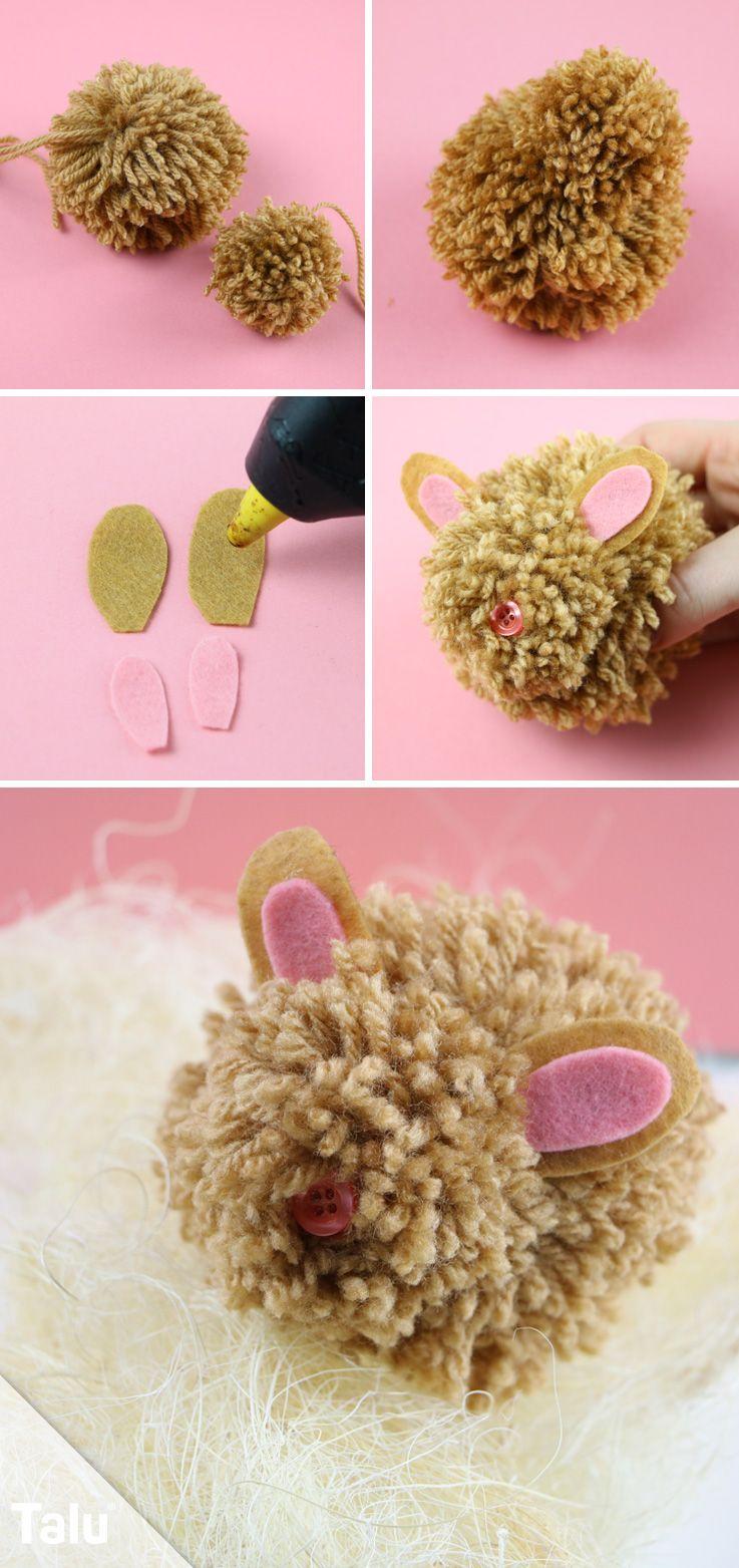 Ostergeschenke basteln 4 ideen zum selbermachen mit kindern diy ideen basteln und gestalten - Bommel machen anleitung ...