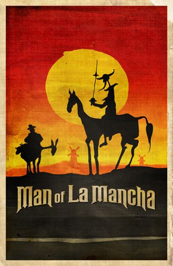 Margaret Berg 2000 2009 Man Of La Mancha Illustration Retro Poster