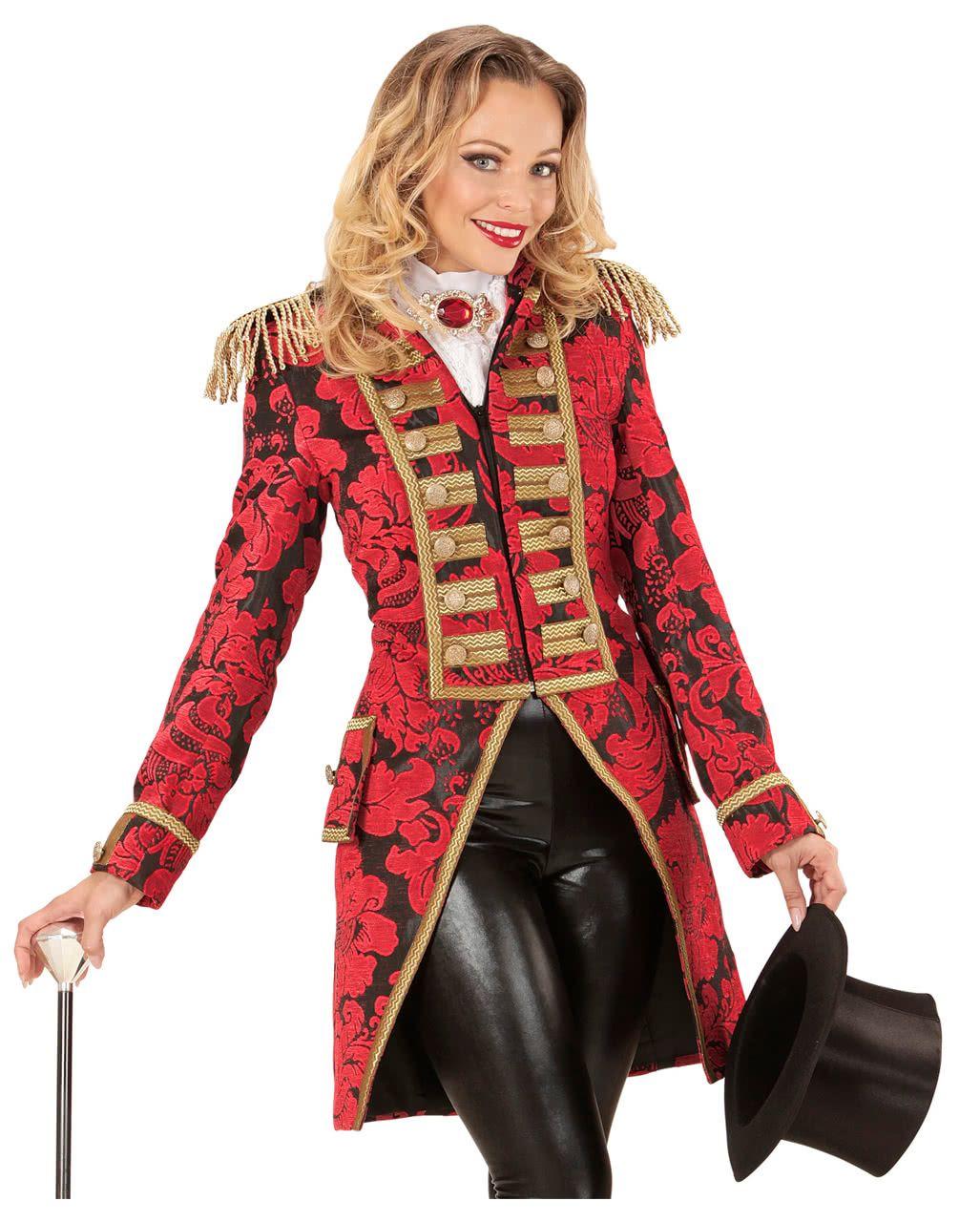 Rot goldener venezianischer Damenfrack | Karneval kostüm