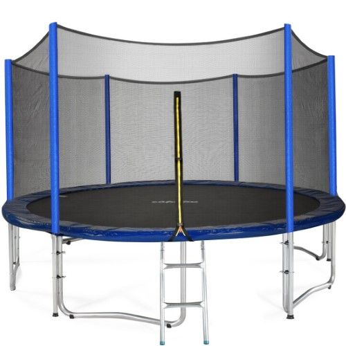 Zupapa 12ft Trampoline With Enclosure Silver Best Trampoline Backyard Trampoline Trampoline Reviews