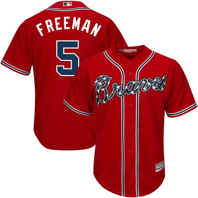 the latest 5c9ab d3ea1 Freddie Freeman Atlanta Braves Majestic Official Cool Base ...