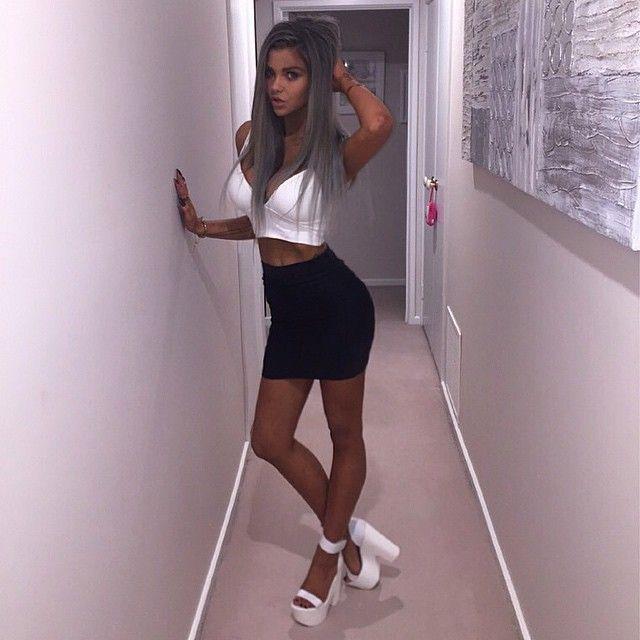 Sexy Teen čierna dievča