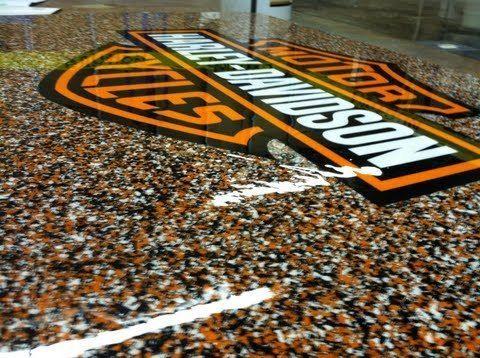 Harley Davidson Epoxy Flooring Abilene Texas