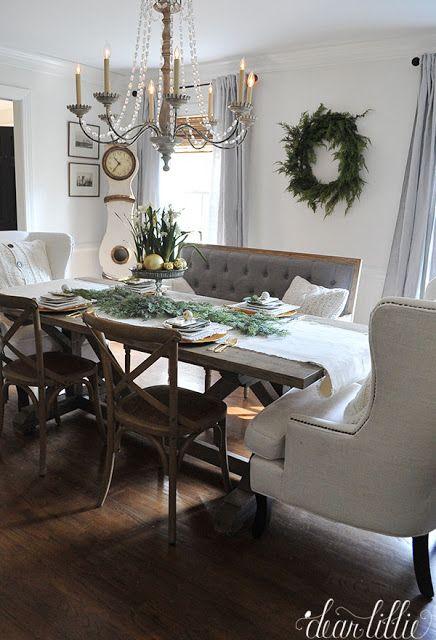Dear Lillie With Images Christmas Dining Room Farmhouse Table