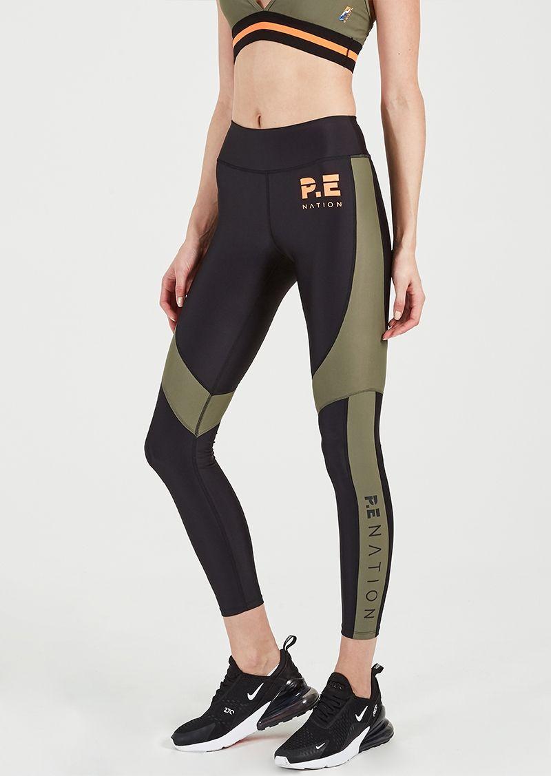87bdba6f Free Fly Legging | Khaki | Full-length Gym Tights | P.E Nation ...