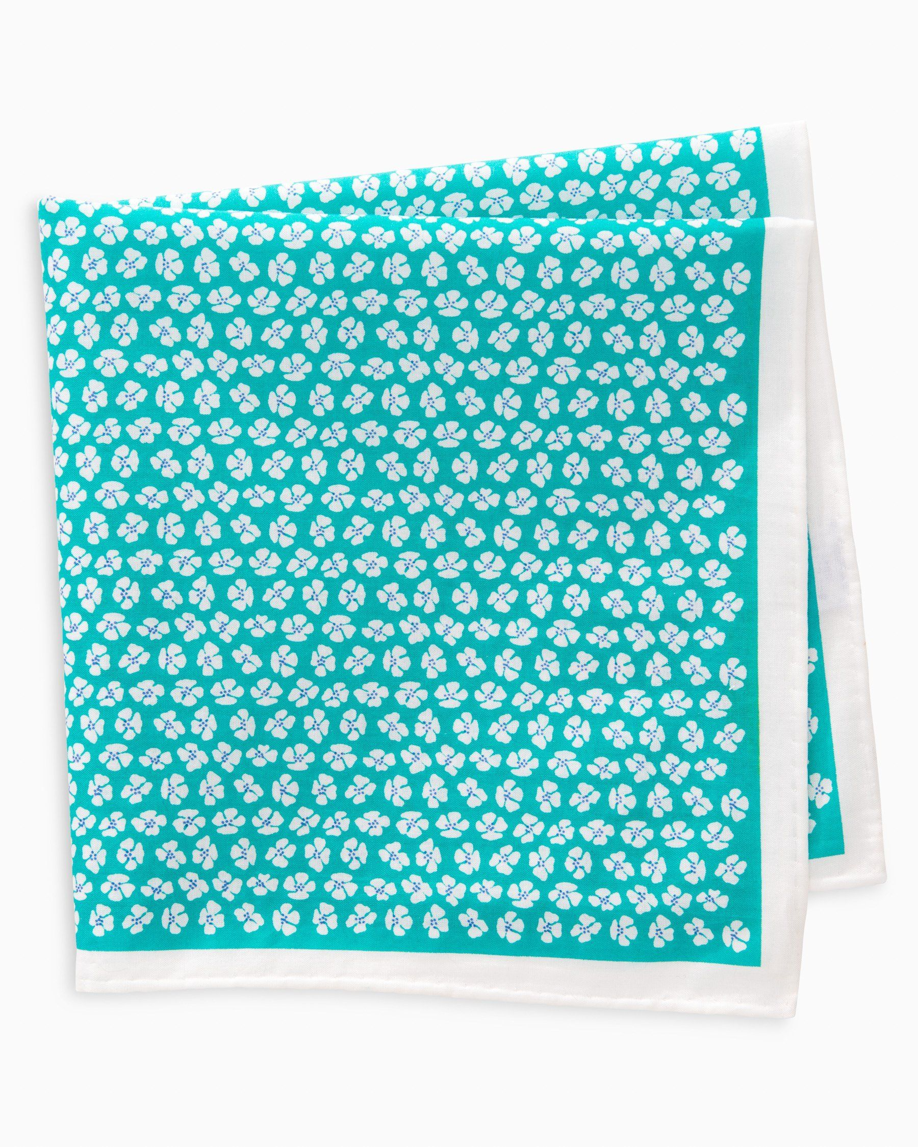 Whitefield Floral Pocket Square - Light Blue, by Southern Tide