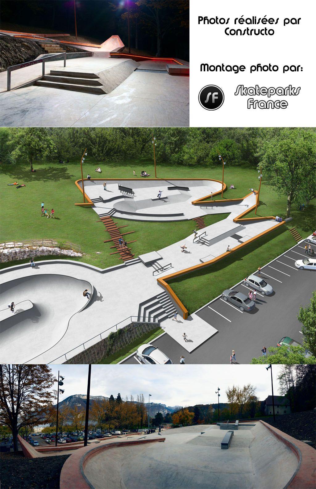 SkateparksFrance Skatepark de Annecy parques sk8 Pinterest