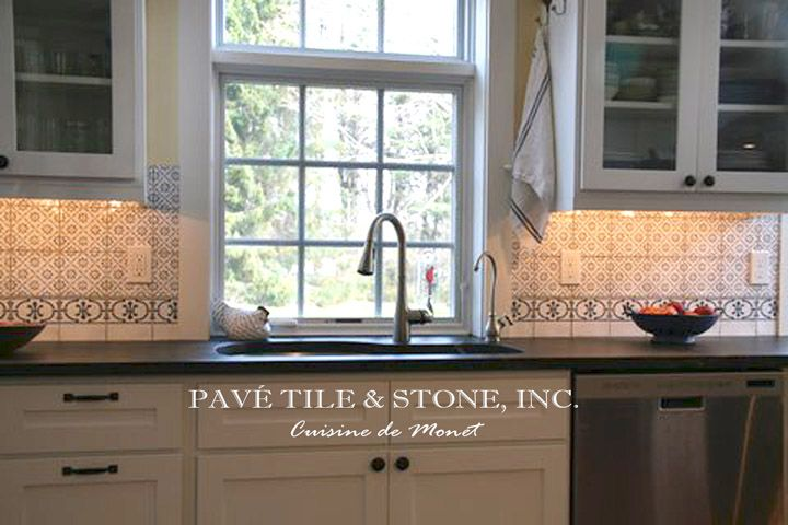 Pav Tile Wood Stone Inc Historic Decorative Wall Tiles For Kitchen And Bath French Pr Kitchen Backsplash Tile Designs Blue Kitchen Tiles Kitchen Tiles