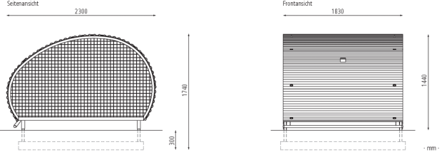 Fahrradgarage Multi Bike Box Fahrradgarage Stahlkonstruktion Stahl