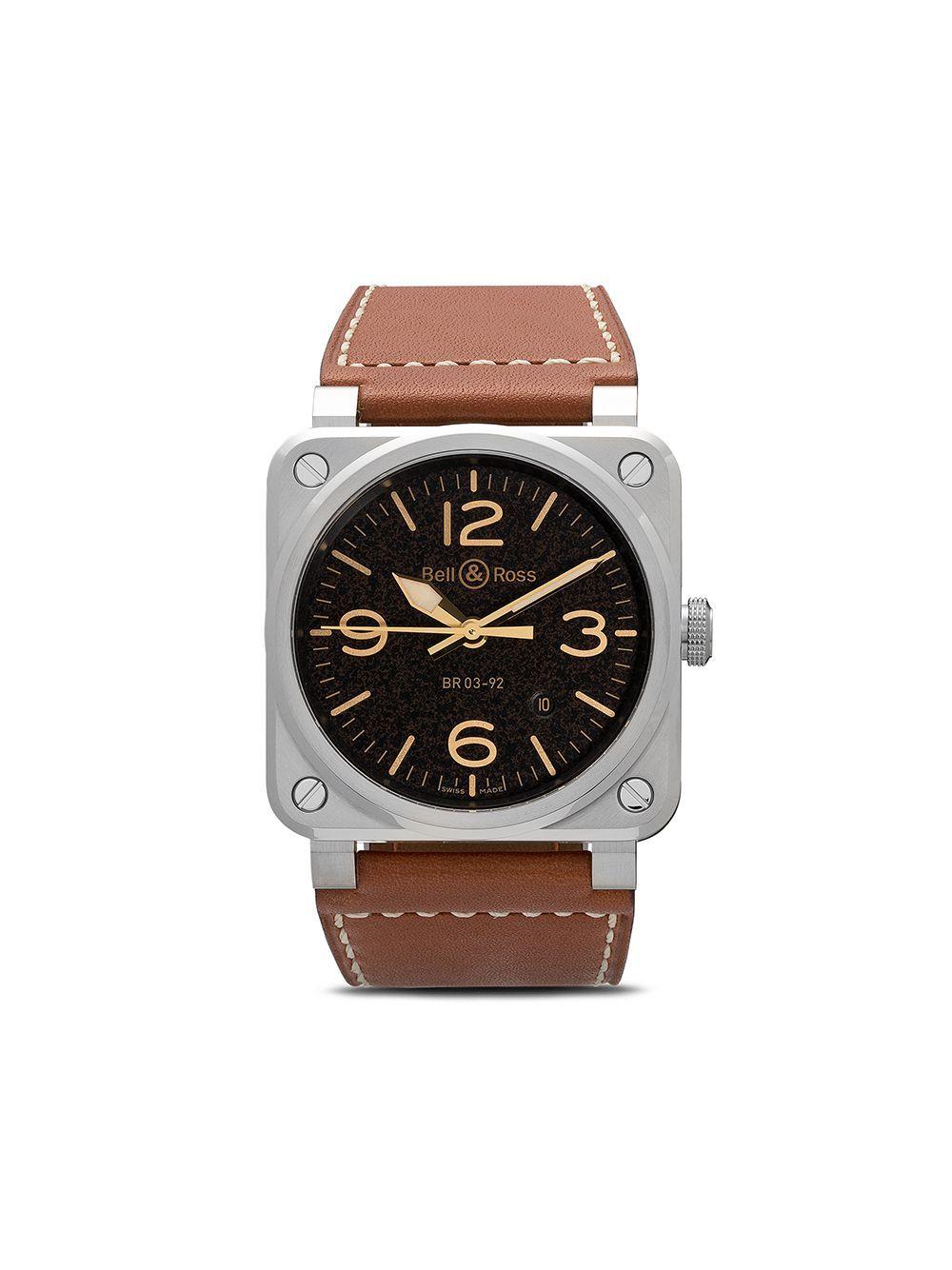 Bell Ross Br 03 92 42mm Farfetch In 2020 Bell Ross Bell Ross Luxury Watches For Men