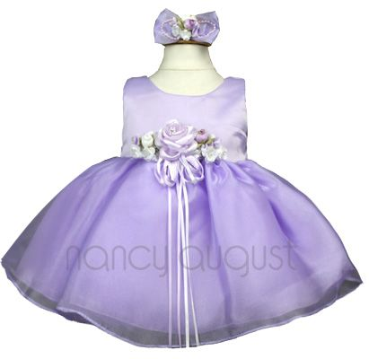 d8d022071 Simple Fancy Baby Dress in Lavender  This simple fancy baby dress in ...