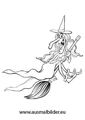 Ausmalbild Halloween Alte Bose Hexe Halloween Ausmalbilder Ausmalen Bose Hexe