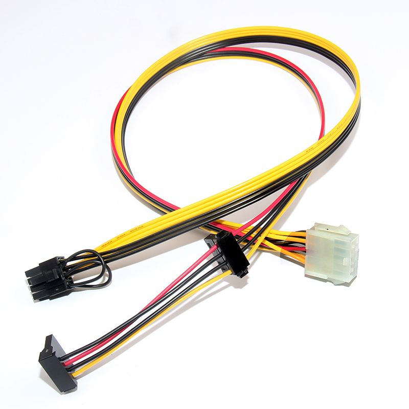 psu 10pin to ide molex + sata + pcie pci-e 8pin 6+2pin adapter converter  power supply cable cord for hp dl160g6 18awg 60cm