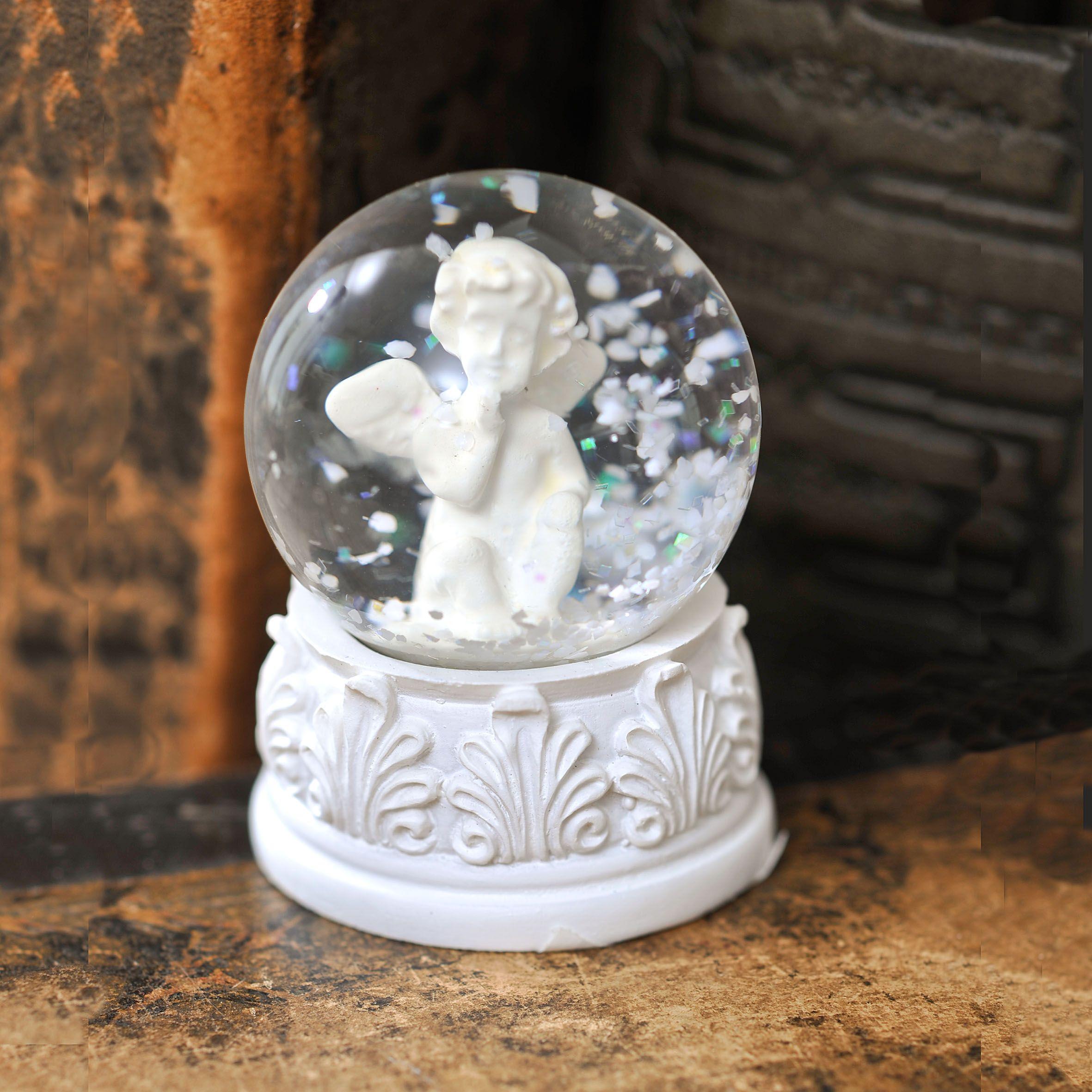 d coration ange et statuette ange craquez pour les boules neige ange pour cette fin d 39 ann e. Black Bedroom Furniture Sets. Home Design Ideas