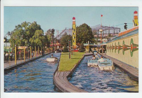 Palisades Amusement Park Atomic Boat Ride New Jersey Nj Old
